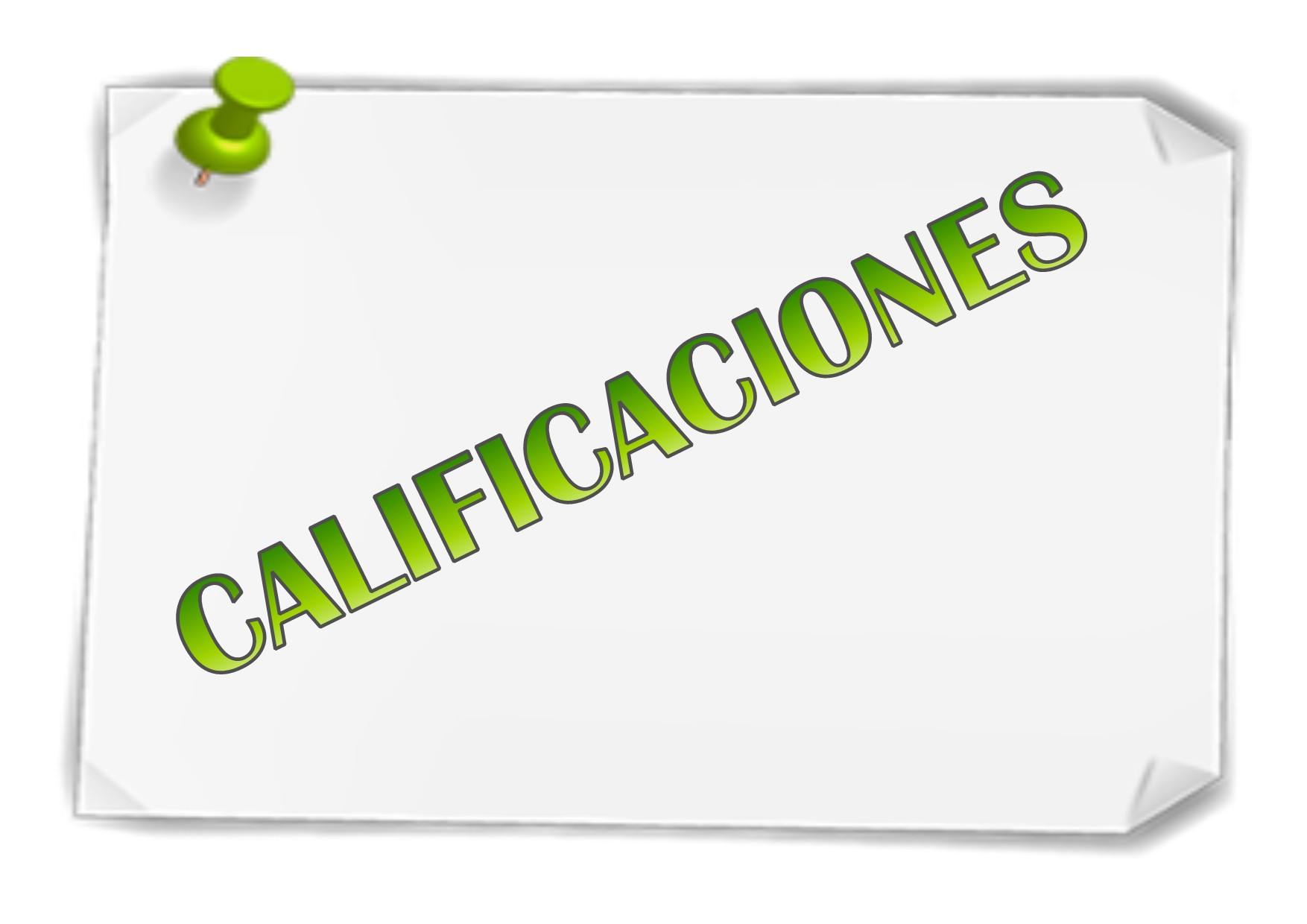 CALIFICACIONES 2016